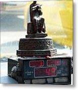 Taxi Meter Monk Metal Print