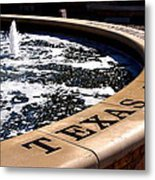 Tcu Frog Fountain Metal Print