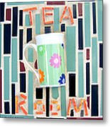 Tea Room Metal Print