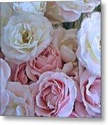 Tea Time Roses Metal Print