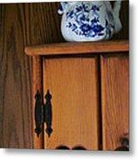Teapot On Cabinet Metal Print