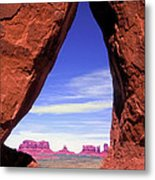 Teardrop Arch Monument Valley Metal Print