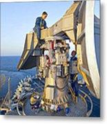 Technicians Perform Maintenance Metal Print