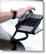 Telephone Use Metal Print