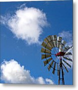 Temecula Wine Country Windmill Metal Print