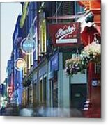 Temple Bar, Dublin, Co Dublin, Ireland Metal Print