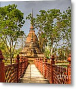 Temple Bridge Metal Print