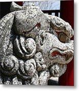 Temple Guard Metal Print