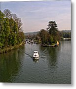 Temple Lock On The River Thames Metal Print