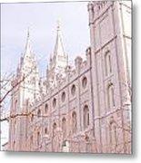 Temple Mormon In Temple Square Metal Print