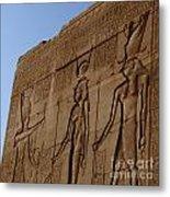 Temple Of Dendara Egypt Metal Print