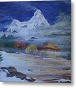 Temple Of The Snows Metal Print
