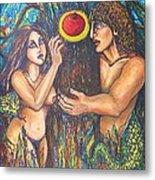 Temptation Of Adam And Eve  Metal Print