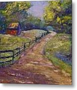 Ten Oaks Road Metal Print