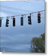 Ten Traffic Lights  Metal Print
