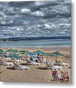 Tenby North Beach 3 Metal Print