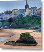 Tenby Over North Beach Painted Metal Print