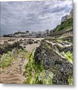 Tenby Rocks 2 Metal Print