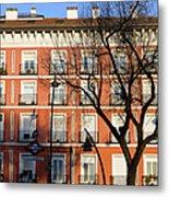 Tenement House Facade In Madrid Metal Print