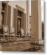 Tennessee Plantation Porch Metal Print