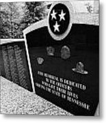 tennessee state police officer memorial war memorial plaza Nashville Tennessee USA Metal Print