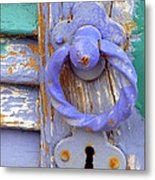 Terrace Door Metal Print