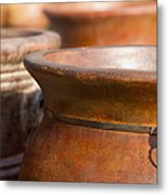Terracotta Mexican Pottery Metal Print