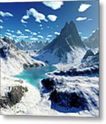 Terragen Render Of An Imaginary Metal Print by Rhys Taylor