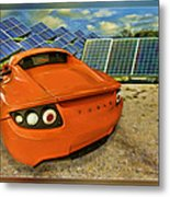 Tesla Car Metal Print