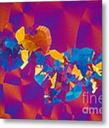 Testosterone Crystal Metal Print