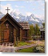Teton Chapel Metal Print