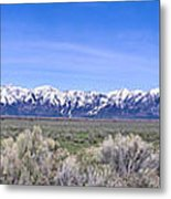 Teton National Park Panarama Metal Print