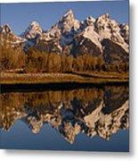 Teton Range, Grand Teton National Park Metal Print by Pete Oxford