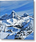 Teton Winter Metal Print