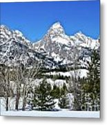 Teton Winter Landscape Metal Print