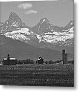 Tetonia Grain Elevators Metal Print