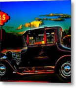 Texas Hot Rod Metal Print