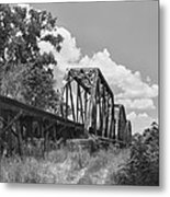 Texas Railroad Bridge Metal Print