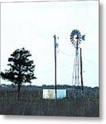 Texas Ranch View Metal Print