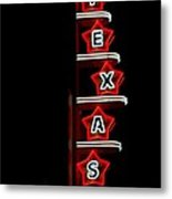 Texas Theater Metal Print by Kitty Geno