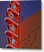 Texas Theater Restored Metal Print by Gib Martinez