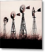 Texas Windmills Metal Print by Tamyra Ayles