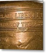 Text On The Liberty Bell Metal Print by Tim Laman