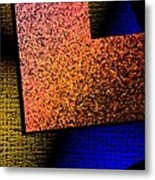 Textured Abstract Geometry Metal Print by Mario Perez