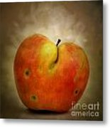 Textured Apple Metal Print by Bernard Jaubert