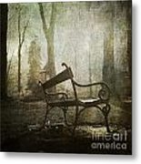 Textured Bench Metal Print by Bernard Jaubert