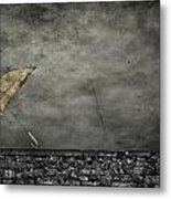 Th E Red Umbrella Metal Print by Empty Wall