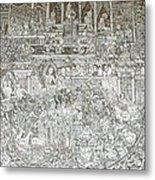 Thai Writing Patterns Metal Print