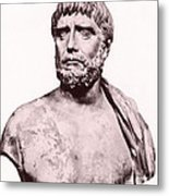 Thales, Ancient Greek Philosopher Metal Print by Photo Researchers