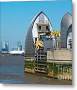 Thames Barrier Metal Print